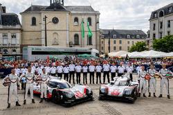 #1 Porsche Team Porsche 919 Hybrid: Neel Jani, Andre Lotterer, Nick Tandy, #2 Porsche LMP Team Porsc