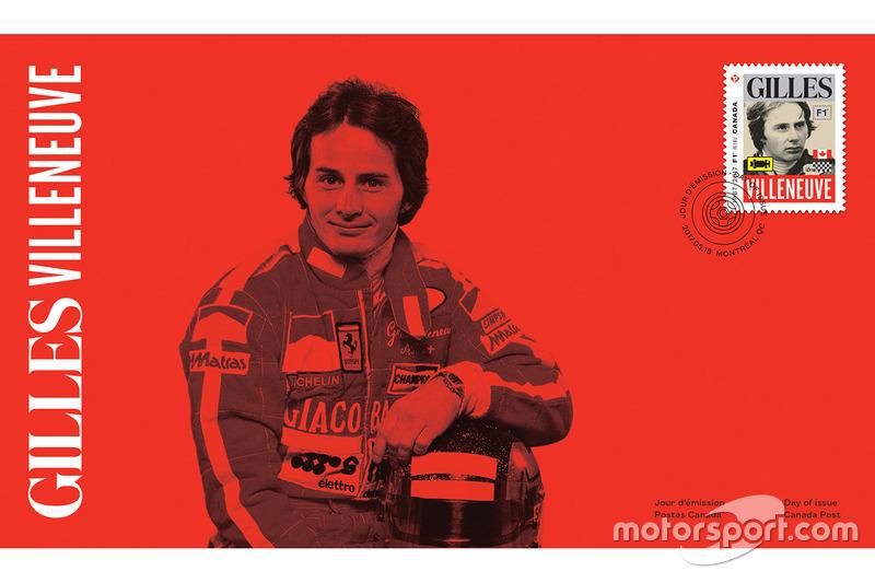 Sello de correos de Gilles Villeneuve