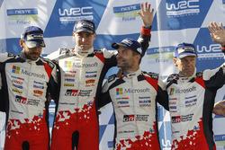 Podium: winners Esapekka Lappi, Janne Ferm, Toyota Racing, third place Juho Hänninen, Kaj Lindström,