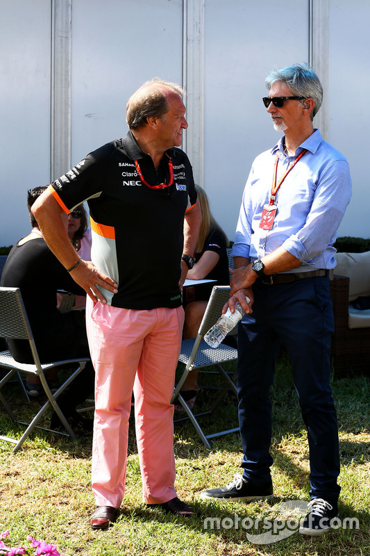 Robert Fernley, Sahara Force India F1; Damon Hill, Sky Sports