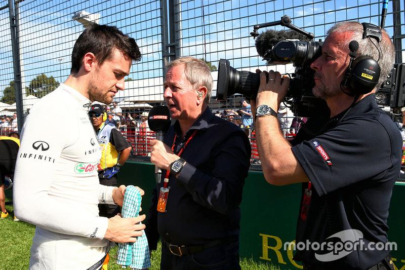 Jolyon Palmer, Renault Sport F1 Team, Martin Brundle, comentarista de Sky Sports
