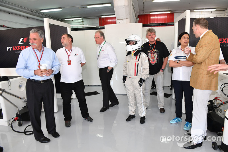 Chase Carey, Chief Executive Officer and Executive Chairman of the Formula One Group and Paul Stodda