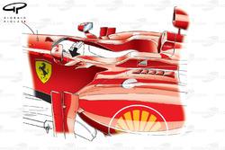 Ferrari F2012 mirror fins (arrowed)