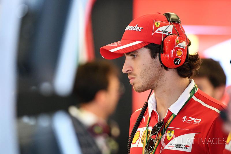 Antonio Giovinazzi, Ferrari-Testfahrer