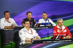 Eric Boullier, McLaren, Toto Wolff, Mercedes AMG, Christian Horner, Red Bull Racing, Paddy Lowe, Williams y Maurizio Arrivabene, Ferrari