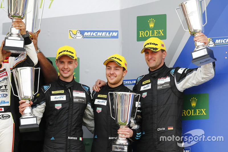 Podium GTE: third place #77 Dempsey Proton Competition Porsche 911 RSR: Christian Ried, Matteo Cairoli, Marvin Dienst