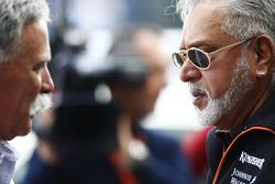 Chase Carey, Presidente Formula One, Vijay Mallya dueño de Sahara Force India