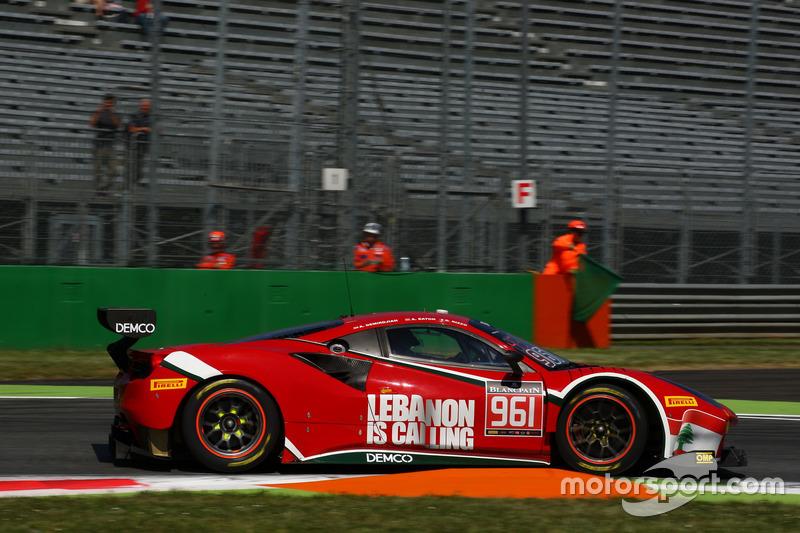 #961 AF Corse, Ferrari 488 GT3: Alex Demerdjian, Davide Rizzo, Abigail Eaton