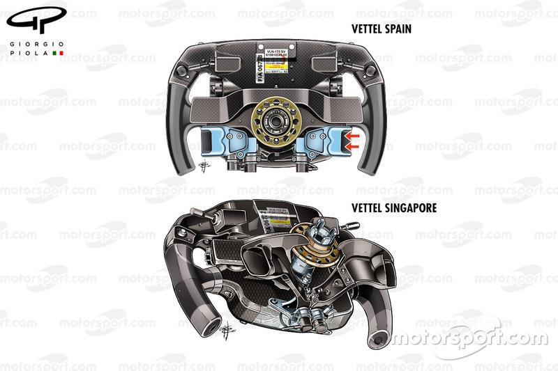 Ferrari SF70H : comparaison des volants de Vettel
