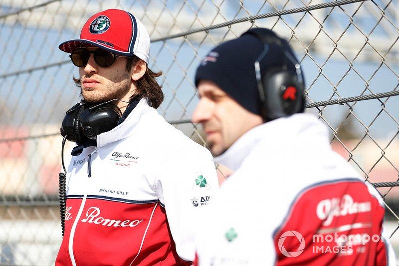 Antonio Giovinazzi, Alfa Romeo Racing e Simone Resta, progettista Alfa Romeo Racing