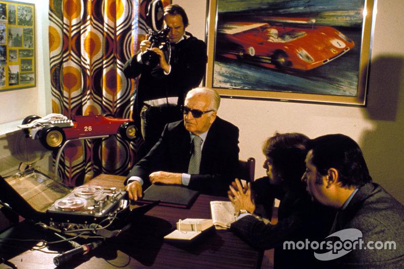 1974, Enzo Ferrari con Luca Di Montezemolo