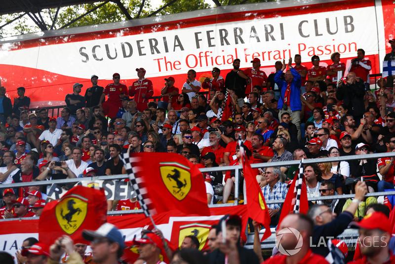 Ferrari red in the Scuderia Ferrari Club section