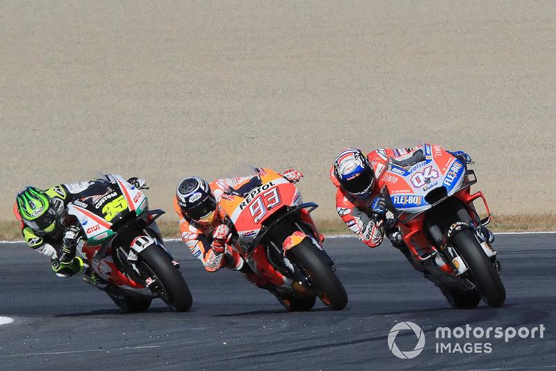 Andrea Dovizioso, Ducati Team, Marc Marquez, Repsol Honda Team, Cal Crutchlow, Team LCR Honda