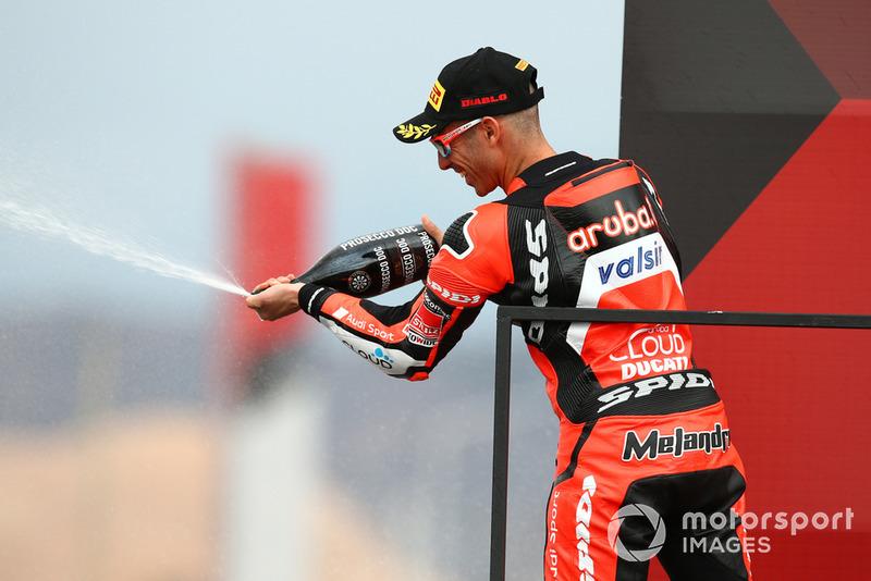 El segundo clasificado Marco Melandri, Aruba.it Racing-Ducati SBK Team