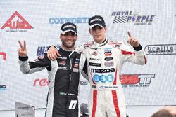 Peringkat kedua Andrテゥ Negrao, Schmidt Peterson Motorsports, juara lomba Santiago Urrutia, Schmidt P