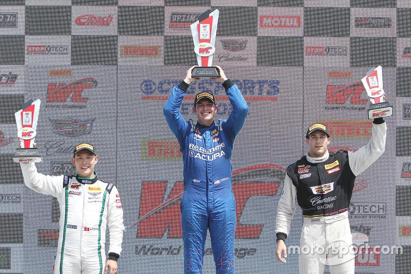 GT podyum: 1. Ryan Eversley, RealTime Racing, 2. Adderly Fong, Bentley Team Absolute, 3. Michael Cooper, Cadillac Racing