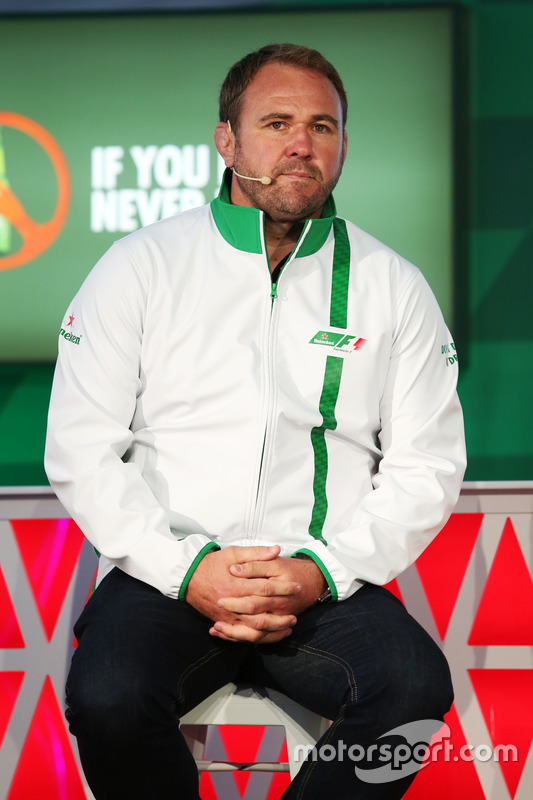 Scott Quinnell, Former Rugby Player at a Heineken sponsorship announcement