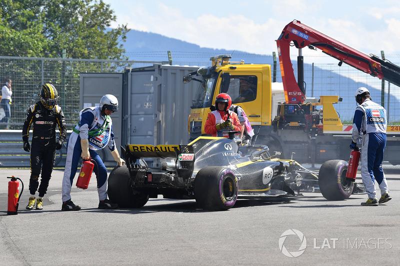 Race retiree Nico Hulkenberg, Renault Sport F1 Team R.S. 18