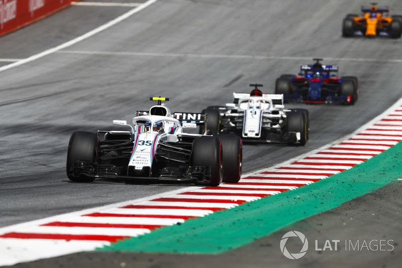 Sergey Sirotkin, Williams FW41, Marcus Ericsson, Sauber C37, Brendon Hartley, Toro Rosso STR13