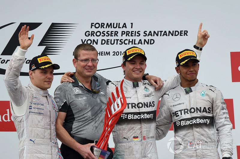 Podium: 1. Nico Rosberg, Mercedes; 2. Valtteri Bottas, Williams; 3. Lewis Hamilton, Mercedes