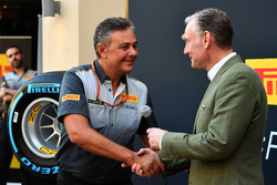Mario Isola, Pirelli Sporting Director and Sean Bratches, Formula One Managing Director, Commercial