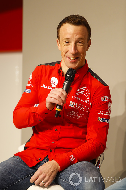 Kris Meeke of Citroen talks to Henry Hope-Frost on the Autosport Stage