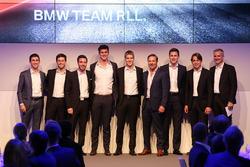 Line-up 2018: Connor De Phillippi, Alexander Sims, Philipp Eng, John Edwards, Jesse Krohn, Bill Auberlen, Nick Catsburg, Augusto Farfus, Jens Marquardt, directeur BMW Motorsport