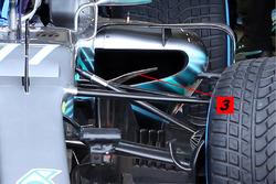 Mercedes AMG F1 W09 sidepod inlet detail