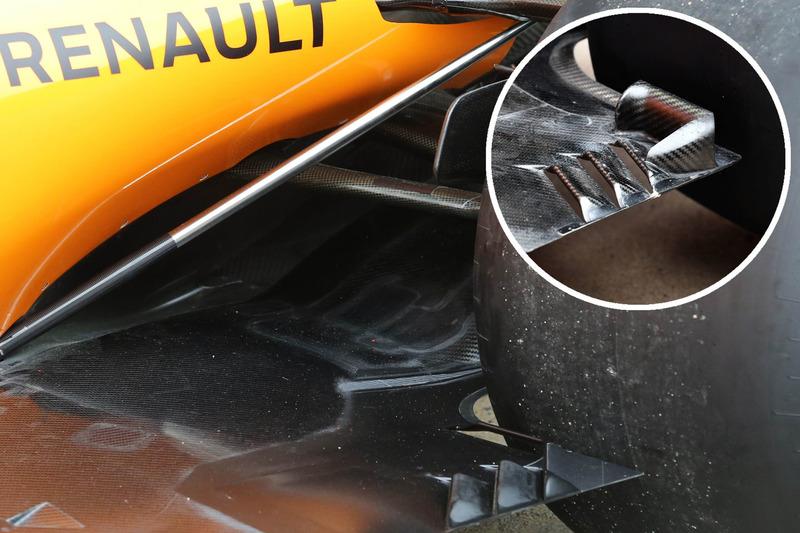 Comparaison des fonds plats de la McLaren MCL33