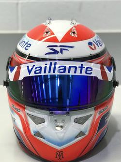 Helmet of Sacha Fenestraz, Carlin, Dallara Volkswagen