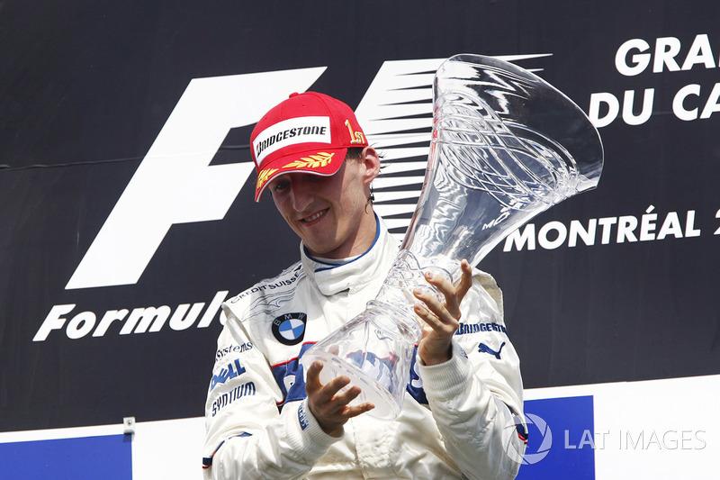 А Кубица был счастлив. После Гран При Канады гонщик BMW Sauber возглавил общий зачет Формулы 1