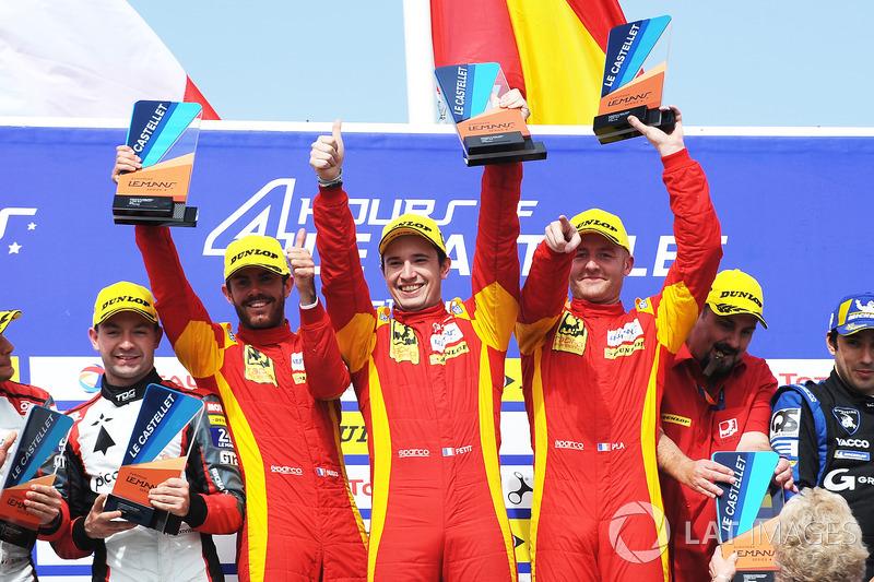Podium: #24 Racing Engineering Oreca 07 - Gibson: Norman Nato, Olivier Pla, Paul Petit