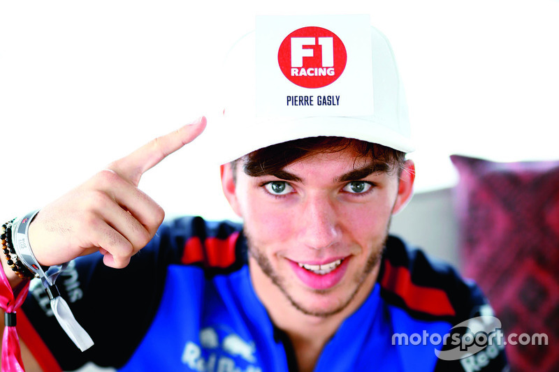 Pierre Gasly, Scuderia Toro Rosso during an F1 Racing magazine interview