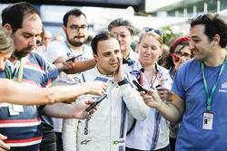 Felipe Massa, Williams FW40, son Brezilya GP'sini kutluyor, Parc Ferme