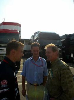 Nicolas Kiesa, Minardi, Piers Hunnisett, Manager to Nicolas Kiesa, Minardi and Jonathan Palmer