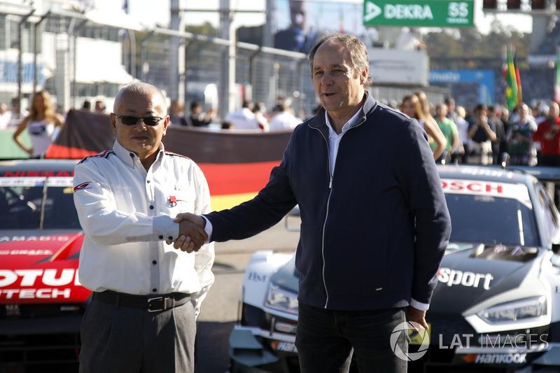 Masaki Bando, Chairman GTA dan Gerhard Berger, ITR Chairman