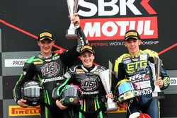 Podium SSP300: race winner Ana Carrasco, second place Dorren Loureiro, third place Borja Sanchez
