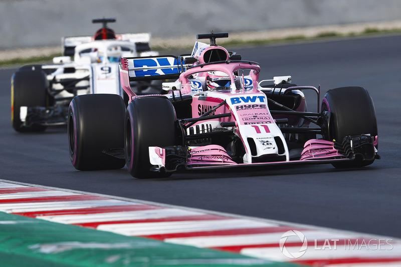 Sergio Perez, Force India VJM11, Marcus Ericsson, Sauber C37