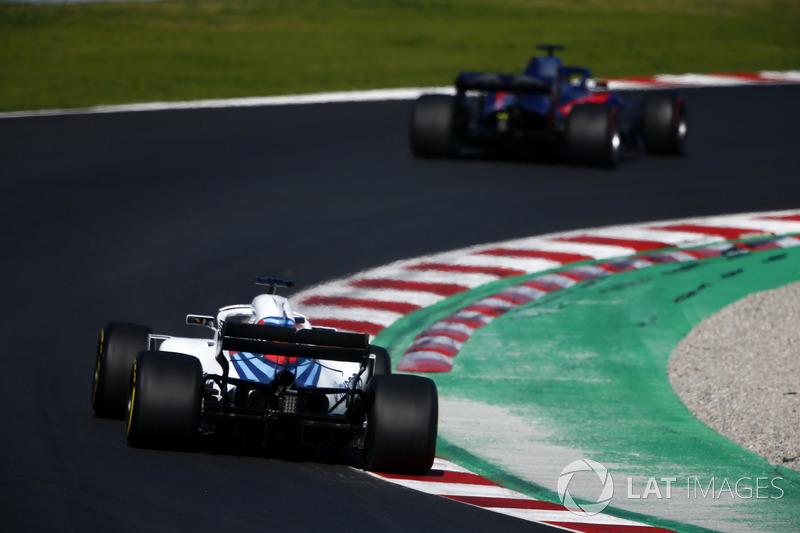 Brendon Hartley, Scuderia Toro Rosso STR13, Sergey Sirotkin, Williams FW41