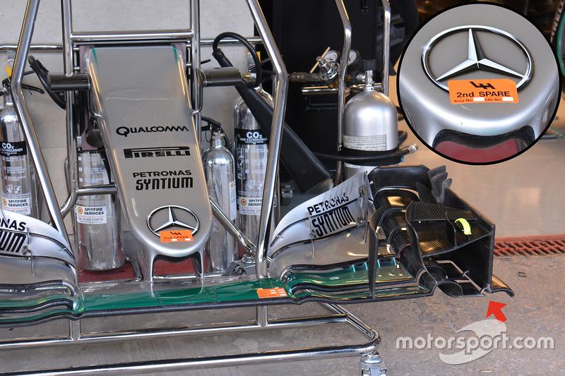 Носовой обтекатель Mercedes AMG F1 W07 Hybrid