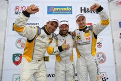 Podium: Meister Opel Astra OPC Cup: Marcel Hartl, Glib Kutepov, David Griessner