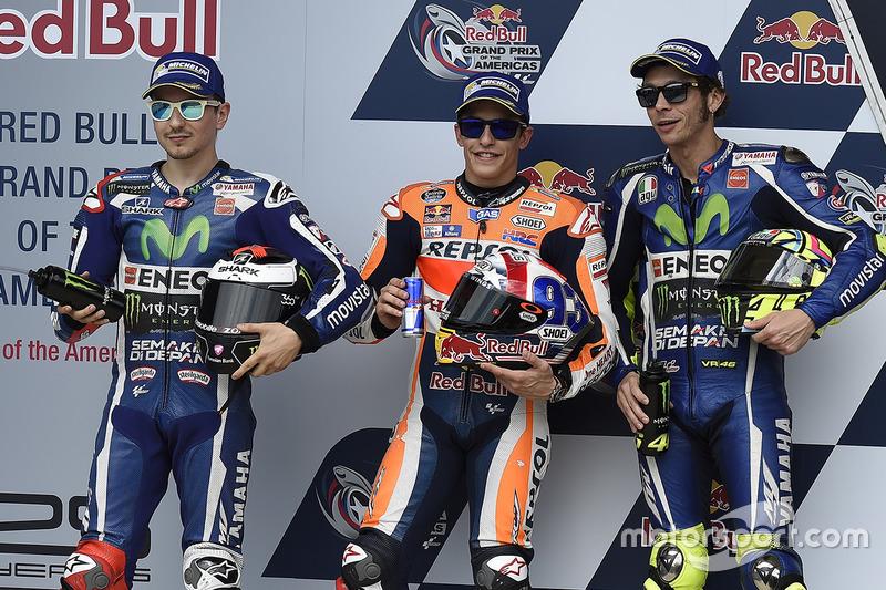 Polesitter Marc Marquez, 2. Jorge Lorenzo, 3. Valentino Rossi