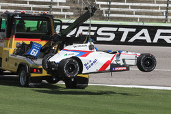 El auto chocado de Gabby Chaves, Dale Coyne Racing Honda