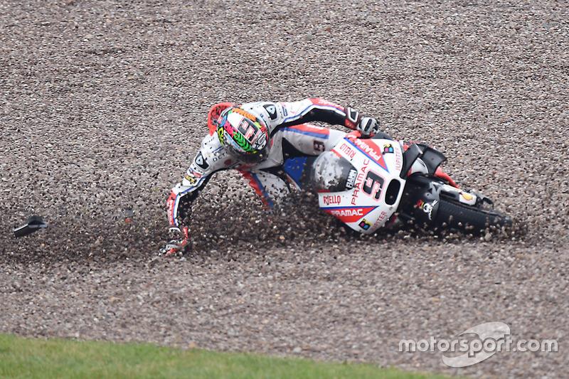 Danilo Petrucci, Pramac Racing crash