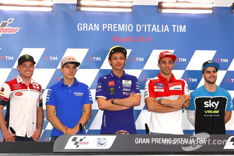 Sam Lowes, Maverick Viñales, Valentino Rossi, Andrea Iannone, Romano Fenati