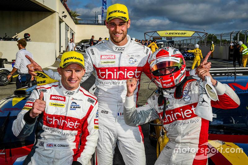 I vincitori della gara #46 Thiriet by TDS Racing Oreca 05 - Nissan: Pierre Thiriet, Mathias Beche, Mike Conway