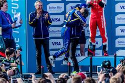 Podium: Nicolas Prost, Renault e.Dams and Alain Prost,  Renault e.Dams