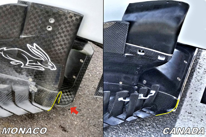 Haas F1 Team VF-18 , floor & bargeboard