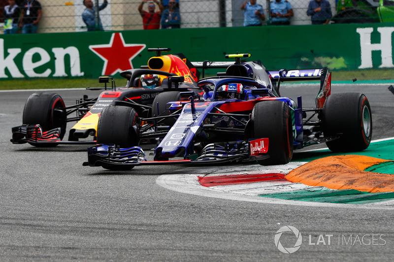 П'єр Гаслі, Toro Rosso STR13, Даніель Ріккардо, Red Bull Racing RB14