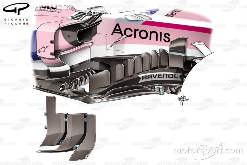 Force India nuova bargeboard